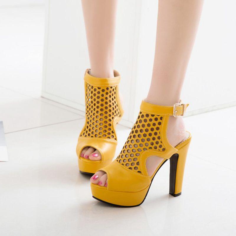 Blxqpyt пикантные модные летние сандалии женские большие размеры 34 50 свадебные туфли на высоком каблуке вечерние женская обувь Туфли лодочки н... - 6