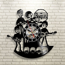 New Arrival Vinyl Record Wall Clock The Beatles Music Nursery Art CD Clock Watch Creative Duvar Saati Horloge Home Decorative
