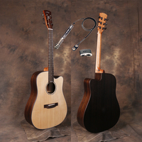 Cutaway 41 Acoustic Guitars With Tail nail pickup,Solid Spruce Top/Rosewood Body guitarra eletrica With Pickup +20mm cotton