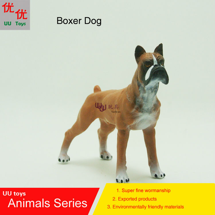 Hot toys:Boxer Dog simulation model  Animals   kids  toys children educational props hot toys great white shark simulation model marine animals sea animal kids gift educational props carcharodon carcharias jaws