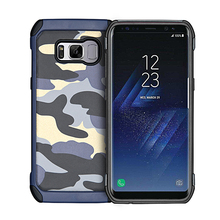 ITEUU S8/S8Plus Army Camouflage Hard Case for Samsung Galaxy