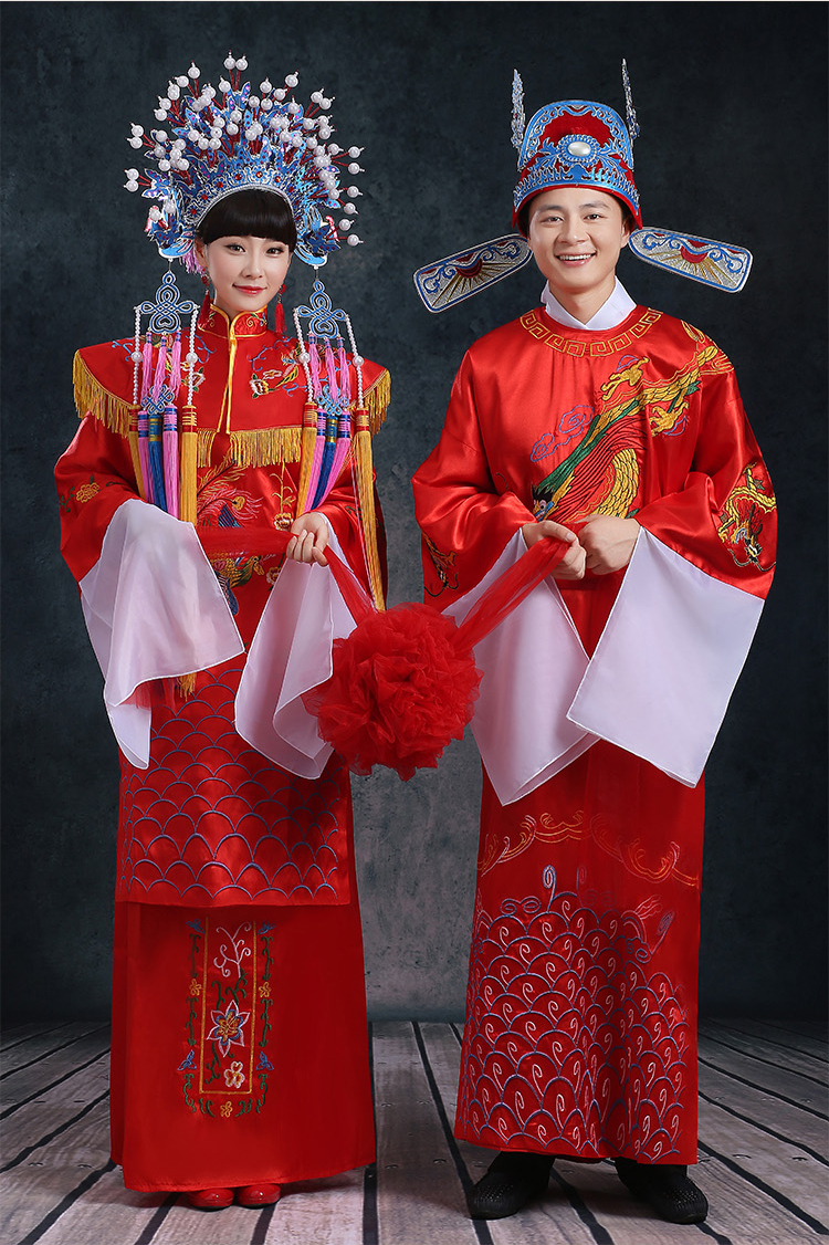 ZZB014 Coronet champion clothing bridal wear wedding clothes ancient costume drama Dragon lovers ancient  Beijing opera wear