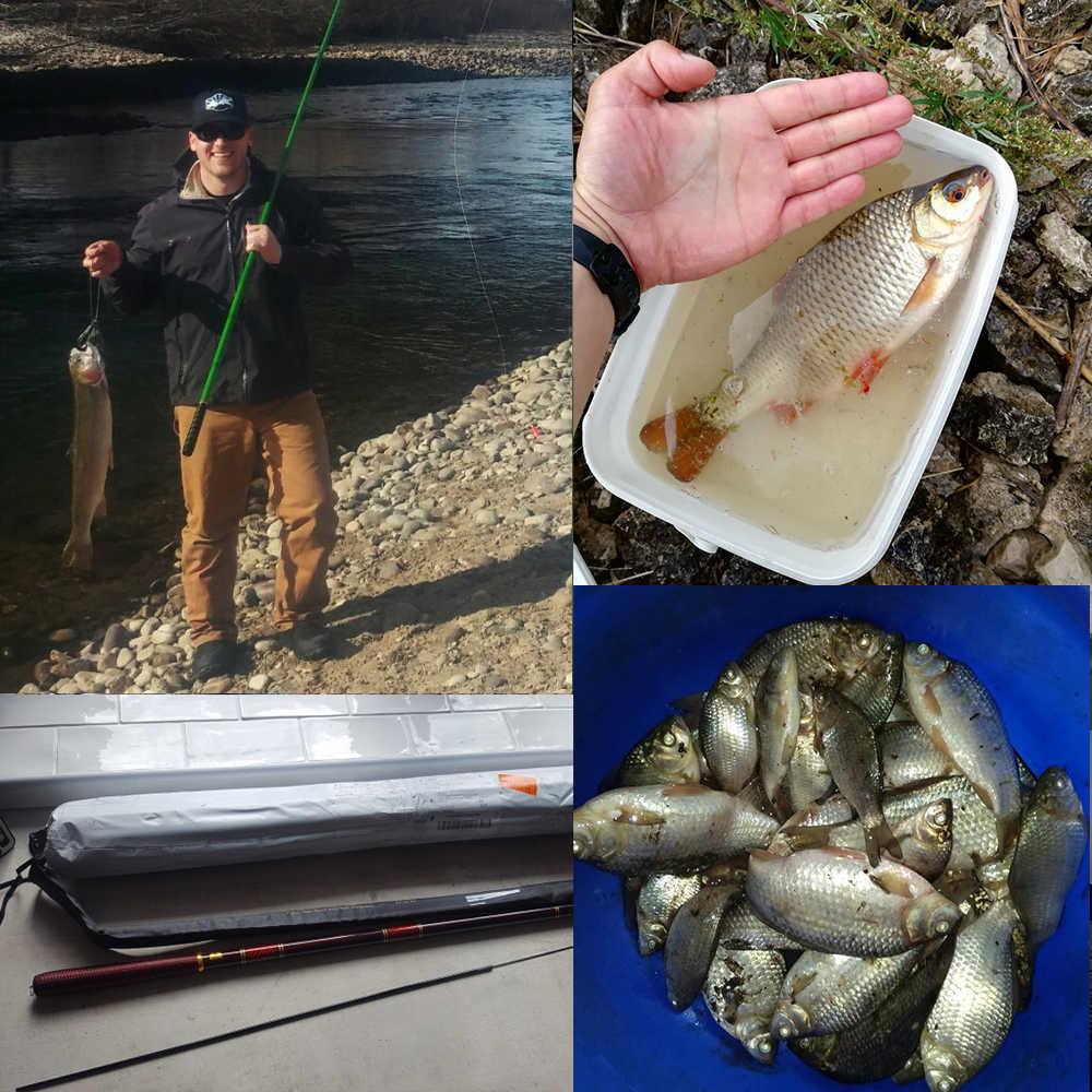 Goture поток удочка 3.0м - 7.2 м углерода волокно удочка телескопическая рука полюс для карпа рыбалка фидер удилище, удочки для зимней рыбалки, нахлыст Tenkara рыболовные снасти, 1 шт. / Лот + тройка лучших советов