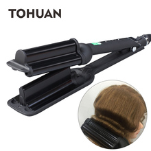 TOHUAN Triple Barrel Wave Hair Curlers Ceramic Curling Iron