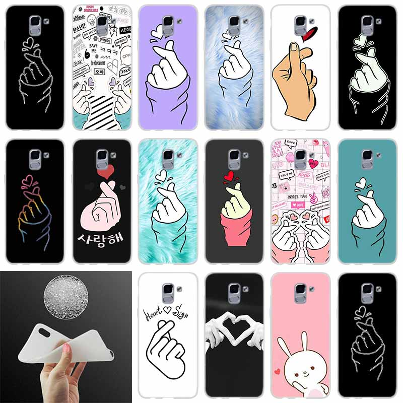 Phone <font><b>case</b></font> Cover k pop Love on the finger <font><b>kpop</b></font> FOR Coque <font><b>Samsung</b></font> Galaxy J6 J4 J8 J7 2018 Plus J3 J5 J7 Prime Pro 2017 2016 Casse image