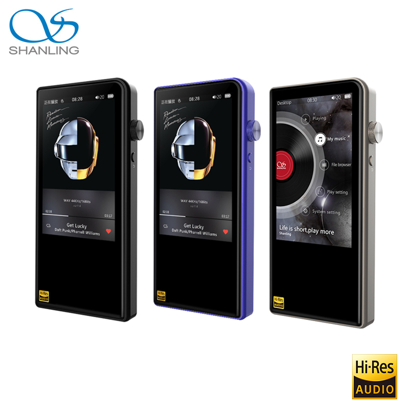 Shanling M3S Bluetooth 4.1 Apt X Lossless Portable Music MP3 Player Retina DOP DSD256 Hi Res Audio Balanced Out PO/LO Hiby Link