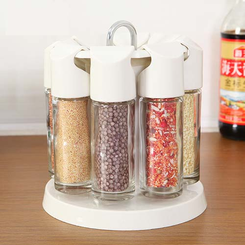Multi Function 360 Degree Rotatable Glass Sealed Condiment