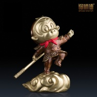 Brass Master Great Master Resourceful Cartoon Wind Statue Chinese Copper Craft Home Decoration Furnishing Ornament Shipping