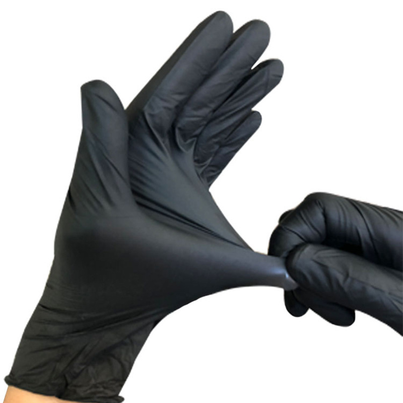 10pcs S/M Disposable Black Laboratory Gloves Medical Tattoo Cleaning Supplies Household Tattoo Accessories Nitrile Rubber Glove
