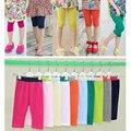 Niños niñas verano dulce caramelo de color sólido modal legging de los niños de la muchacha ocasional lindo suave capris leggings ropa