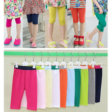 Legging Clothing Girls Kids Summer Children Cute Casual Solid Capris Candy-Color Modal