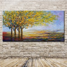 Mintura Art Large Size Hand Painted Abstract Tree Oil Painting On Canvas Modern Home Wall Decoration Picture for Living Room(China)