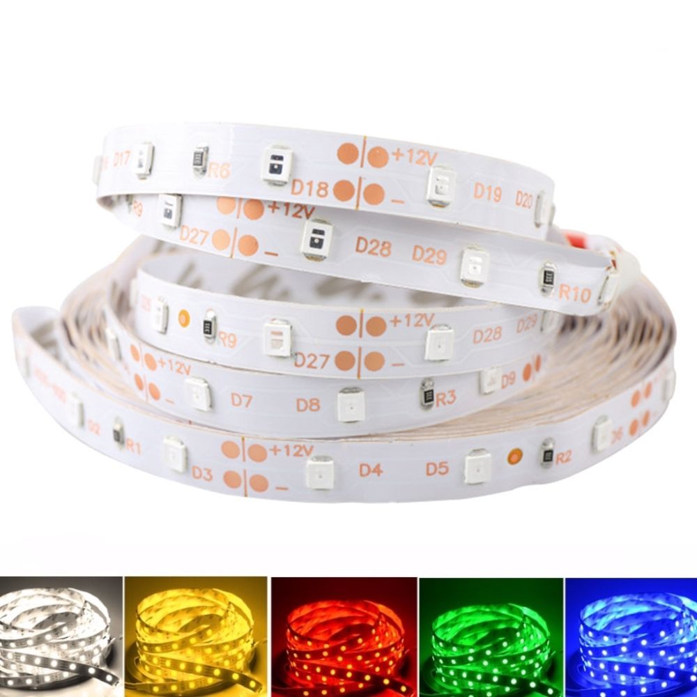 цена на 12 V Strip Led Light Tape SMD 2835 RGB Waterproof 1M - 5M 12V DC 60LED/M RGB Led Strip Tape Lamp Diode Flexible For TV Backlight