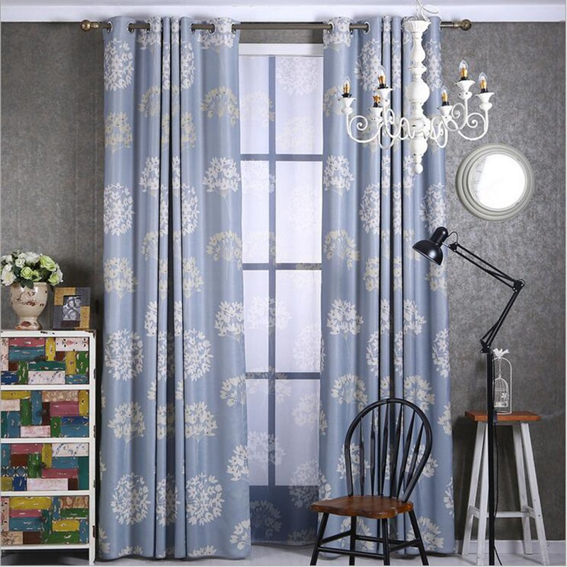 Living Room Curtains Blue