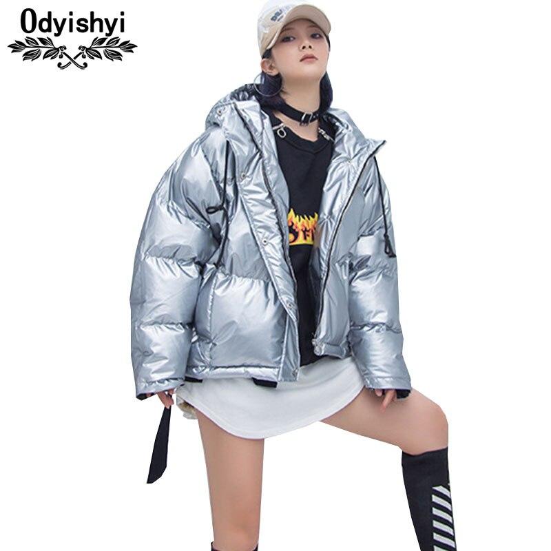 La Vers Silver 2018 Plus Vestes Hiver Bas Pain Capuchon Taille Pu Coton Brillant Top Parkas Cuir Manteau Hs245 Bright Argent En Femmes Le Vêtements Veste À 1qWa4