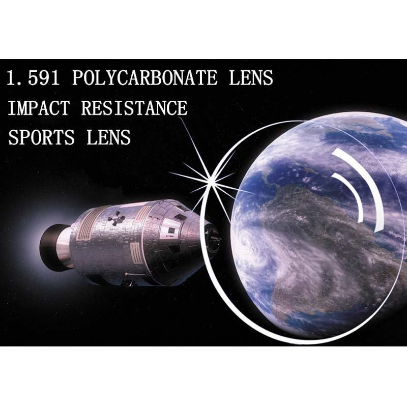 1 591 Index Prescription Polycarbonate Glasses Lenses for Myopia Hyperopia Anti Impact Unbreakable Plastic Lenses Anti