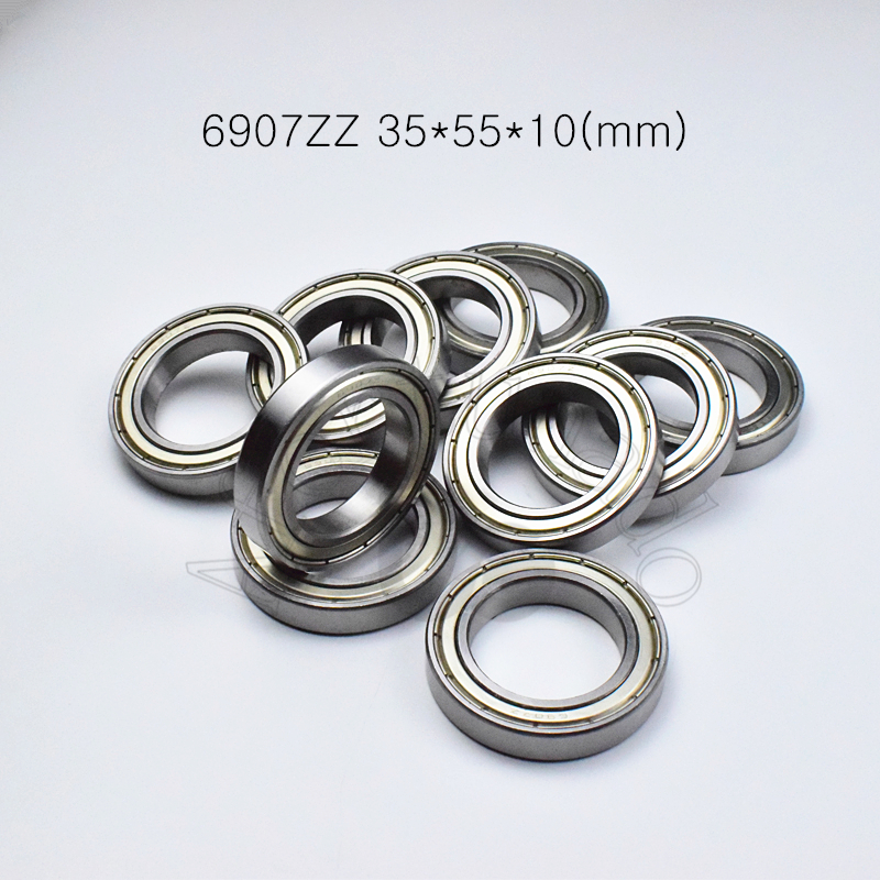 6907ZZ 35*55*10(mm) 1piece Bearing Free Shipping Abec-5 Metal Sealed Bearing Thin Wall Bearing 6907 6907Z Chrome Steel Bearing