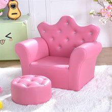 Pink Kids Sofa Armrest Couch with Ottoman High Quality Children Sofa Set Living Room Furniture HW54194(China)