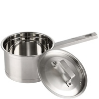 1PC 1500ml Stainless Steel Pot Non stick Pan Thickened Mini Soup Pan Milk Cook Pot Noodle Pan Cooking Pot