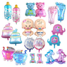 1pcs Angel Baby Boy Girls Foil Balloon Baby Shower 1st Birthday Decor Cake Stroller Balloon for Newborn Party Decor Air Balloons(China)