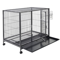 44'' X 29'' Metal Wire Pet Crate Cage High Quality Strong Structure Large Size Enough Space Two Doors Dog Crate PS5803