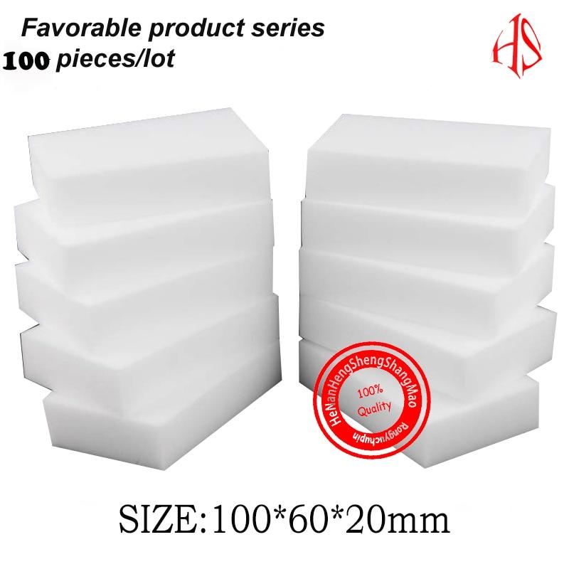 buy 100 60 20 mm 100pcs melamine sponge magic sponge eraser kitchen bathroom. Black Bedroom Furniture Sets. Home Design Ideas