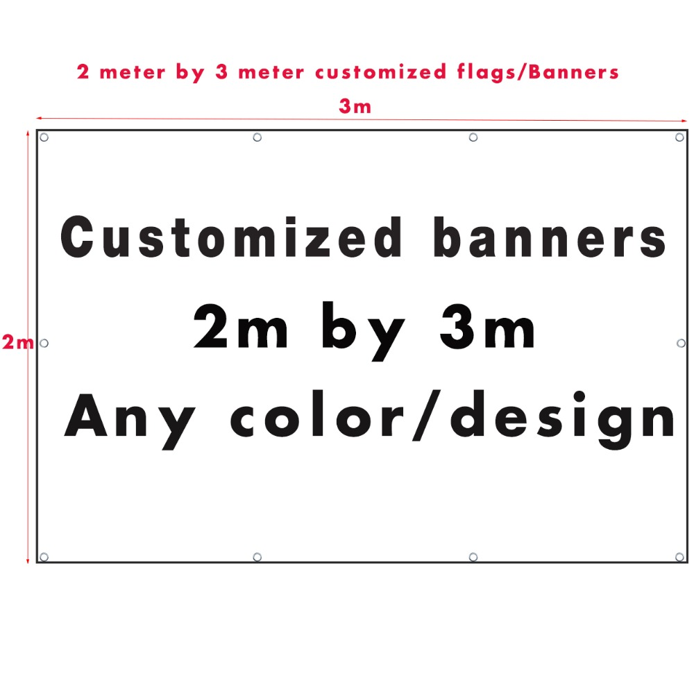 Custom Printed Large Flag Banner 2 3Meter Customize Polyester Banner Flags And Banners