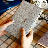 A5A6 2017 New Business Linen Notebooks Writing Pad Portable Diary Office School Supplies Notepad Stationery School