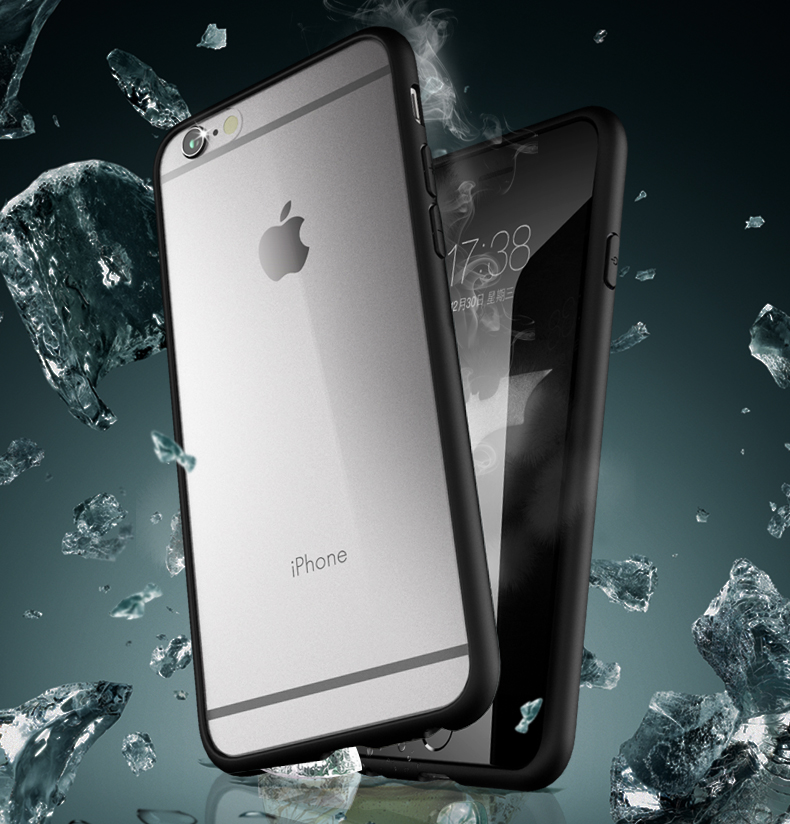funda de silicona transparente para iphone6 ​​para iphone6s (4.7) para iphone 6plus para iphone 6splus (5.5) diseño suave ultrafino 0.38