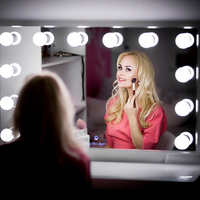 Fashion LED USB 10V Dresser Stepless Dimmable makeup mirror headlight bedroom Wall Light Charging Table Desktop Cosmetic Light
