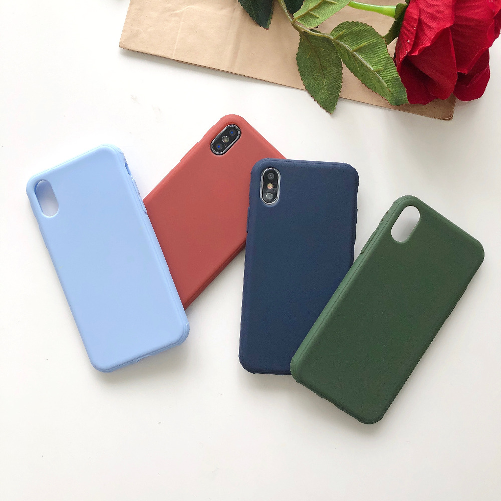Newest Liquid silicone Candy original case for iPhone X case for iPhone 7 plus 8Plus 7 6S 6 case soft TPU shockproof back cover