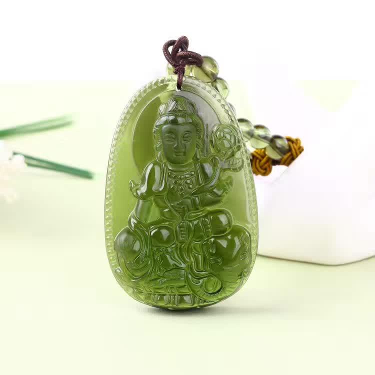 7 naturel tchèque Moldavite vert aerolites sculpté bouddha chanceux amulette pendentif cristal énergie apotropaïque gratuit corde Unique collier