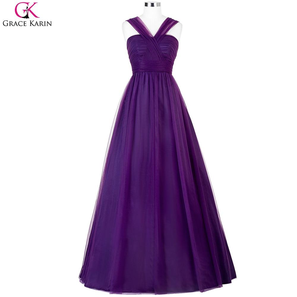 Púrpura vestidos de dama de honor 2017 grace karin lavanda barato ...