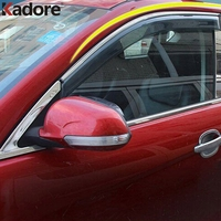For Nissan Qashqai 2014 2015 Second Generation Plastic Window Wind Deflector Visor Rain Sun Protector Guards