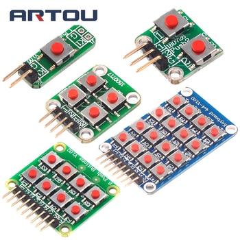 цена на Micro Switch 1*2/2*2/2*4/4*4 Matrix Keyboard 8-bit Button Independent Button MCU External Expansion Keyboard Module