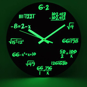 "New 12"" Wood Luminous Wall Clocks Silent Quartz Home Decoration Living Room Bedroom Creative Digital Number Wall Hanging Clock"