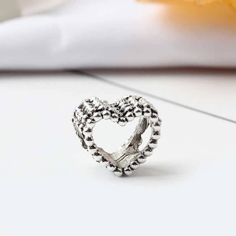 New Original Free Shipping Silver Plated Bead Alloy Charms Clover Heart Charm Fit Pandora Bracelet Necklace DIY Women Jewelry