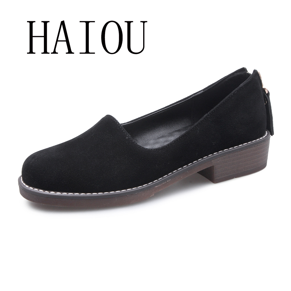 2017 New Women Flats Spring New Fashion High Quality PU Casual Solid Loafers Shoes Women Zipper Comfortable Shoe Black Work Shoe new hot spring summer high quality fashion trend simple classic solid pleated flats casual pointed toe women office boat shoes
