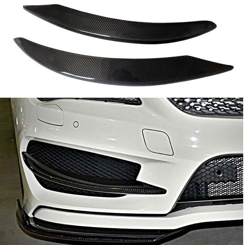 W117 Front Bumper Spoiler Splitter Cup Flaps For Mercedes Benz W117 CLA 200 CLA180 CLA220 CLA250 CLA45 2014~2015 2pcs/set c117 carbon fiber front bumper side canards splitter spoiler for benz w117 cla180 cla200 cla250 cla45 amg sport bumper 14 16