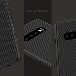 Image 5 - Samsung kılıfı Galaxy S10 Artı S10 + S10E Nillkin Sentetik Fiber Karbon Fiber PP arka kapak sFor Samsung Galaxy S10 Artı Kılıf