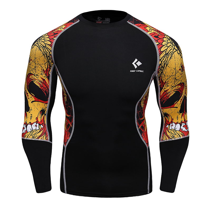 Compression fitness shirt jersey printed male gym top t for Compressed promotional t shirts