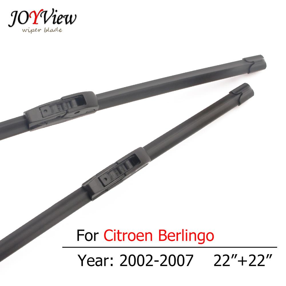 S410 Hook Type Car Wiper Blade for <font><b>Citroen</b></font> <font><b>Berlingo</b></font> 2002 2003 <font><b>2004</b></font> 2005 2006 2007 Front Windscreen Wipers 22 + 22 inches image