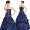 Em estoque 2016 Diamante Azul Satin halter Vestido De Bola De Cristal vestidos de 15 años barato da festa de casamento vestidos vestido quinceanera FD23