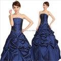 En stock 2016 Diamante Azul Satinado cabestro vestido de Bola de Cristal vestidos de 15 anos boda vestido de fiesta barato vestidos de quinceañera FD23