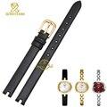 Feminino Mini delgado relógio cinto Notch interface pequenos relógios de pulso banda genuína pulseira de couro 8 mm womans pulseira relógio