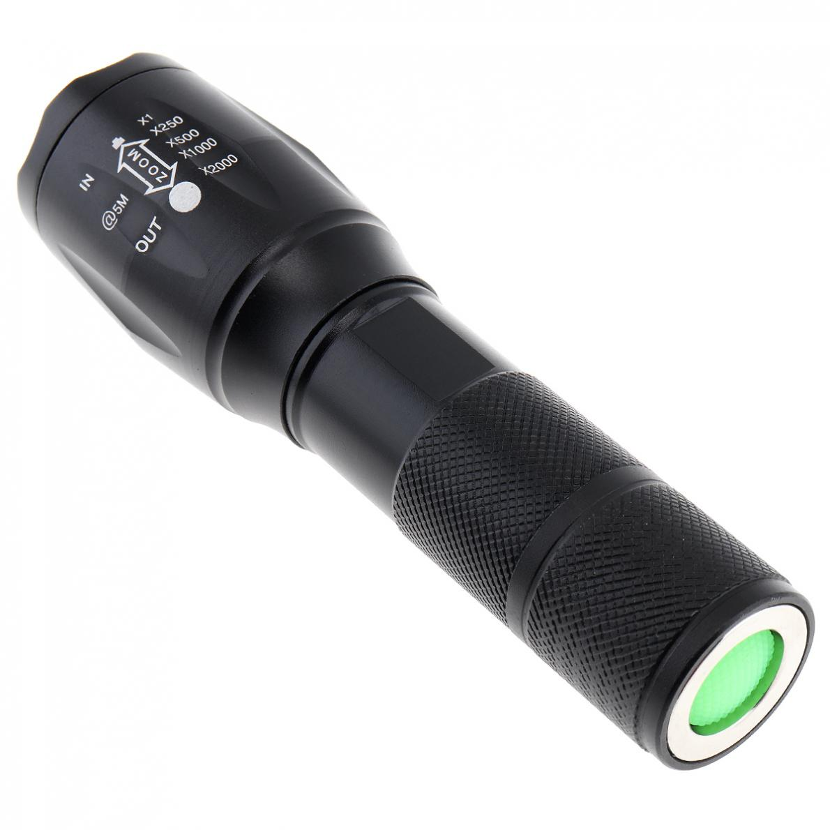20000LM T6 LED Zoomable 3 Colour Flashlight Torch Light Super Bright 5 Mode 18650 AAA Battery Exchange Len Red Green White Light in Flashlights Torches from Lights Lighting