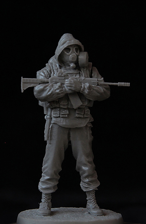 Assembly Unpainted Scale 1/35 the russia modern Stalker man on standing Historical toy Resin Model Miniature Kit