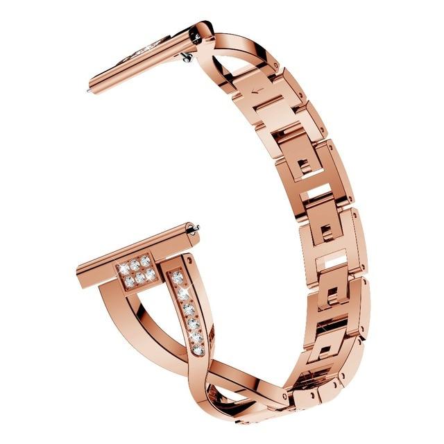 Pour Samsung Galaxy montre Active 2 1 Bracelet en acier allié or Rose pour Galaxy montre Bracelet actif bandes de montre 20mm Bracelet de montre