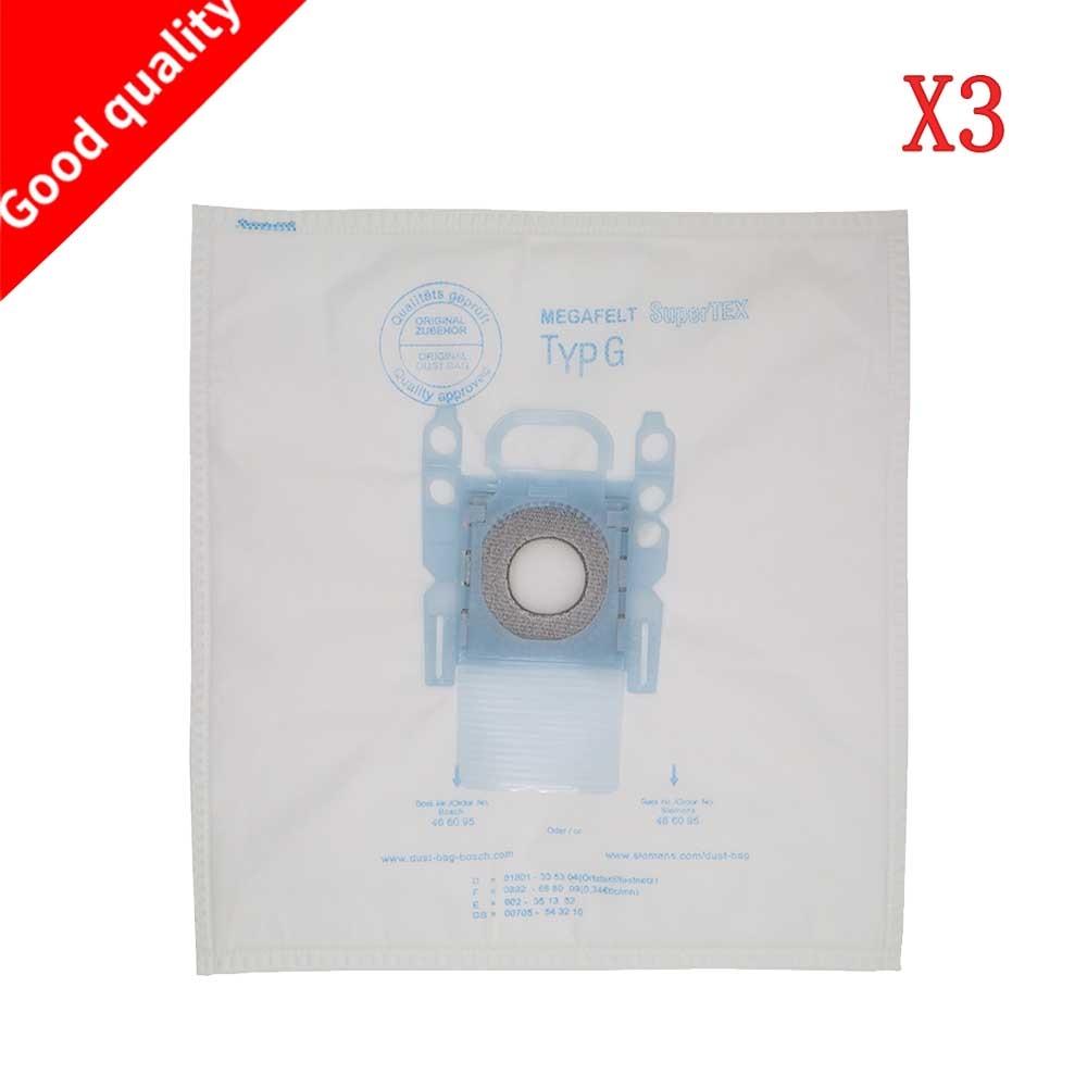 купить 3 pack vacuum cleaner dust bag replacement for Bosch Microfibre Type G GXXL GXL MegaAir SuperTex BBZ41FGXXL онлайн
