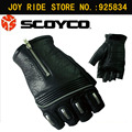 Original Fashion SCOYCO Motorcycle Gloves Sheepskin Summer/Spring/Autumn Breathable Half Finger Leather Bicycle Sport Luva Glove